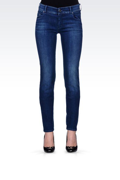 SLIM FIT SUPER STRETCH MEDIUM WASH JEANS: Jeans Women by Armani - 3