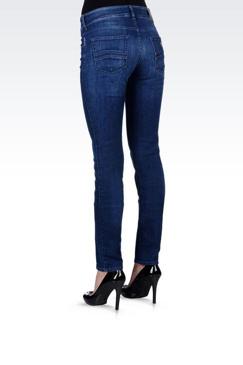 SLIM FIT SUPER STRETCH MEDIUM WASH JEANS: Jeans Women by Armani - 4