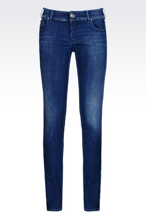 SLIM FIT SUPER STRETCH MEDIUM WASH JEANS: Jeans Women by Armani - 1
