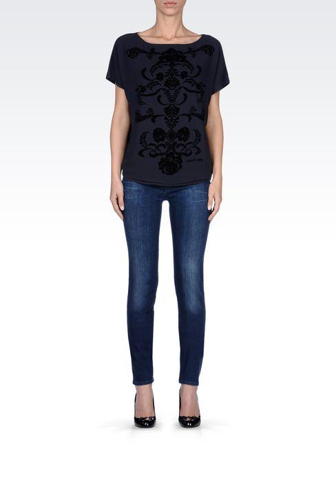 SLIM FIT SUPER STRETCH MEDIUM WASH JEANS: Jeans Women by Armani - 2