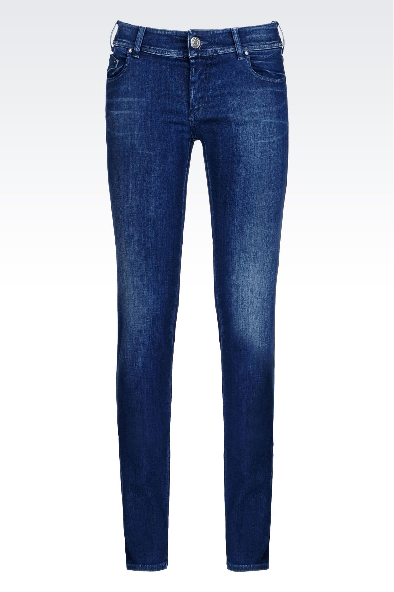 SLIM FIT SUPER STRETCH MEDIUM WASH JEANS: Jeans Women by Armani - 0