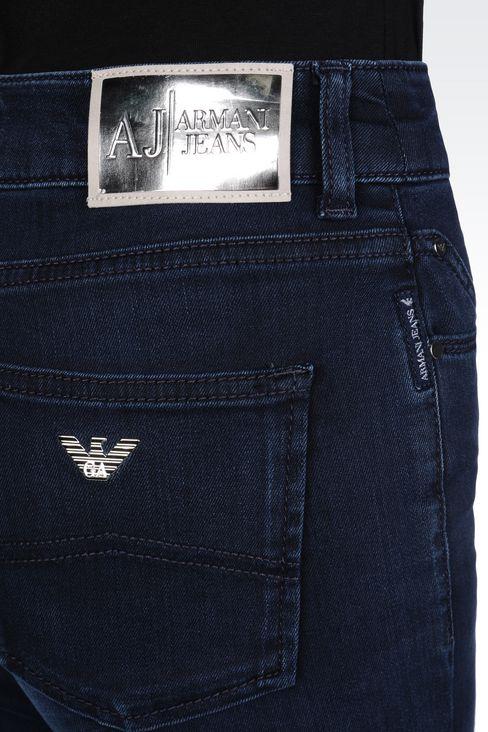SLIM FIT HIGH-WAIST BLACK WASH JEANS: Jeans Women by Armani - 5