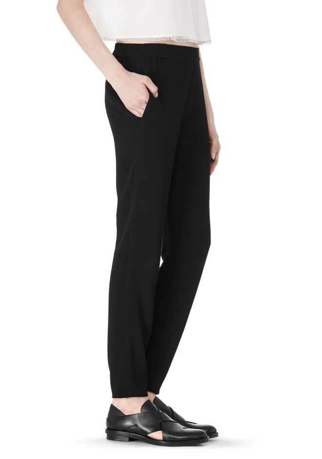 T by ALEXANDER WANG VISCOSE CREPE TRACK PANTS PANTS Adult 12_n_e