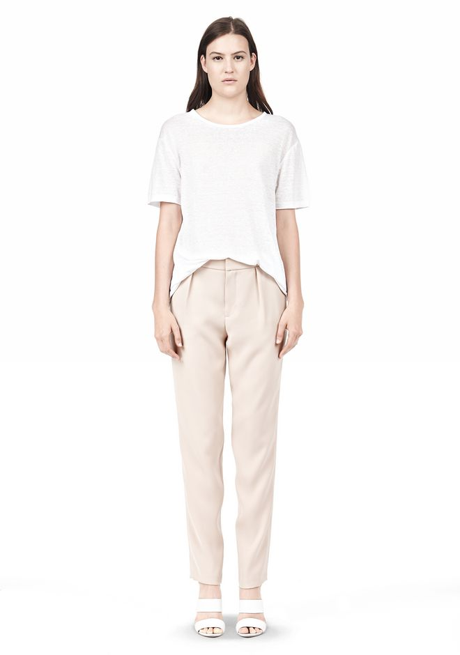 T by ALEXANDER WANG DRAPE SUITING TAPPERED TROUSERS