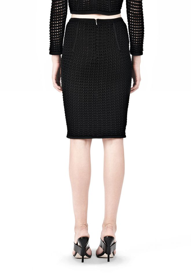 FITTED CROCHET PENCIL SKIRT