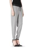 T by ALEXANDER WANG COTTON SWEATPANTS WITH LEATHER WAISTBAND PANTS Adult 8_n_e