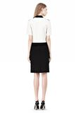 PENCIL SKIRT WITH LOGO EYELET EMBROIDERY