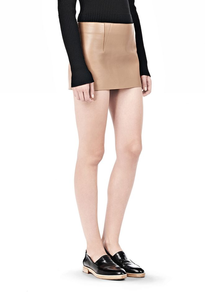ALEXANDER WANG MICRO MINI SKIRT WITH EXPOSED DART SKIRT Adult 12_n_a
