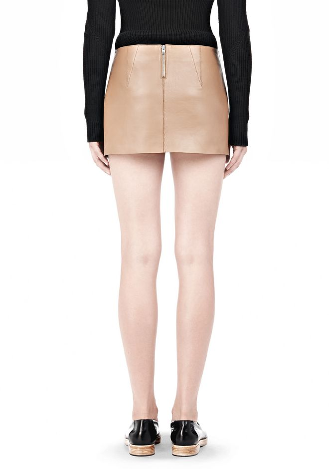 ALEXANDER WANG MICRO MINI SKIRT WITH EXPOSED DART SKIRT Adult 12_n_d