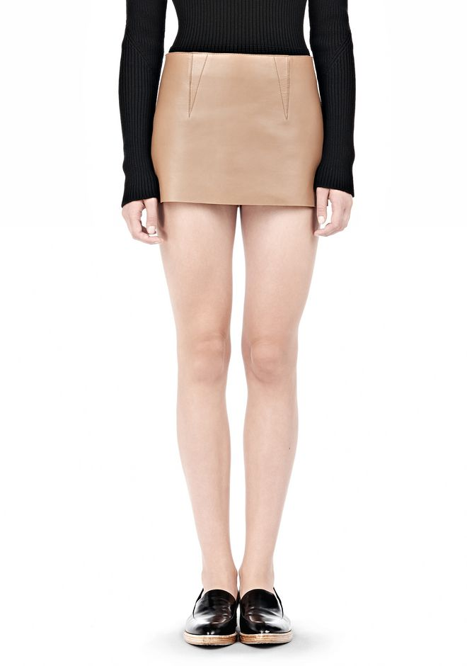 ALEXANDER WANG MICRO MINI SKIRT WITH EXPOSED DART SKIRT Adult 12_n_e