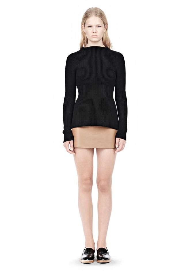 ALEXANDER WANG MICRO MINI SKIRT WITH EXPOSED DART SKIRT Adult 12_n_f