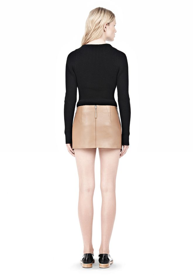 ALEXANDER WANG MICRO MINI SKIRT WITH EXPOSED DART SKIRT Adult 12_n_r