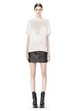 ALEXANDER WANG RAW EDGE LEATHER MINI SKIRT SKIRT Adult 8_n_f