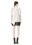 ALEXANDER WANG RAW EDGE LEATHER MINI SKIRT SKIRT Adult 8_n_r