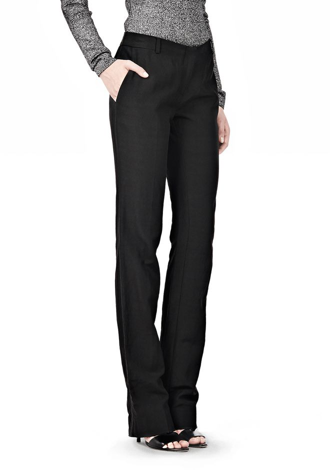 ALEXANDER WANG LOW CUT STRAIGHT LEG TROUSER  PANTS Adult 12_n_e
