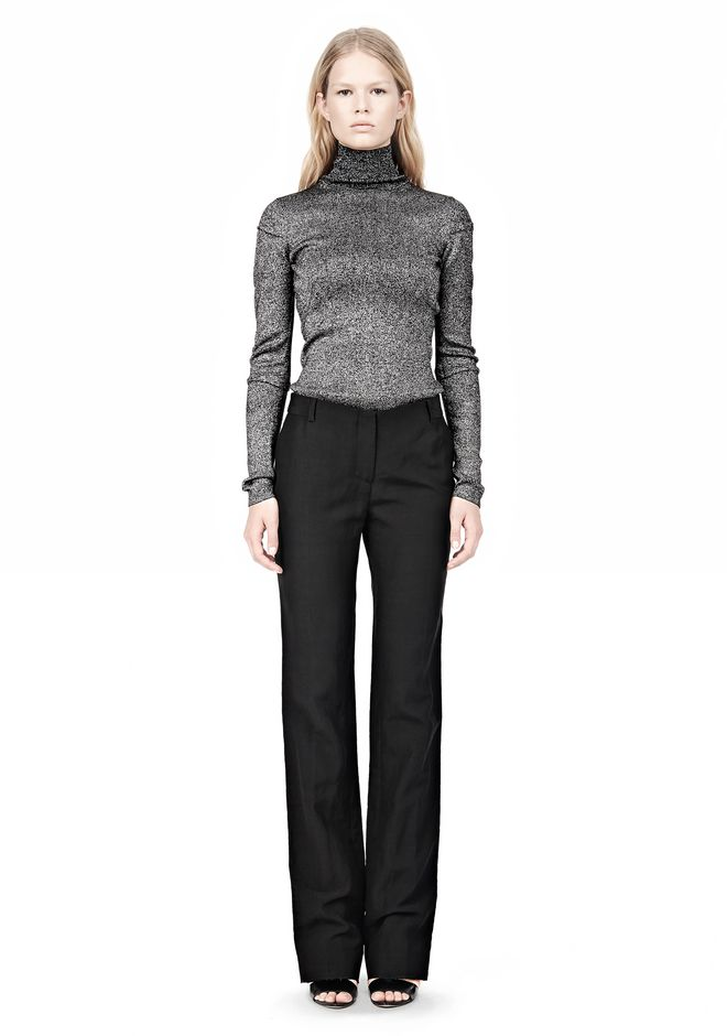 ALEXANDER WANG LOW CUT STRAIGHT LEG TROUSER