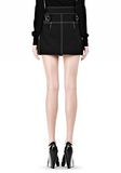 ALEXANDER WANG MINI SKIRT WITH CONTRAST STITCHING SKIRT Adult 8_n_a