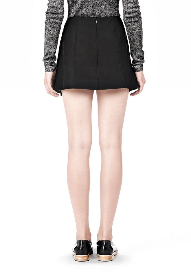 ALEXANDER WANG VACUUM PRESSED IRREGULAR SEAM MINI SKIRT SKIRT Adult 12_n_a