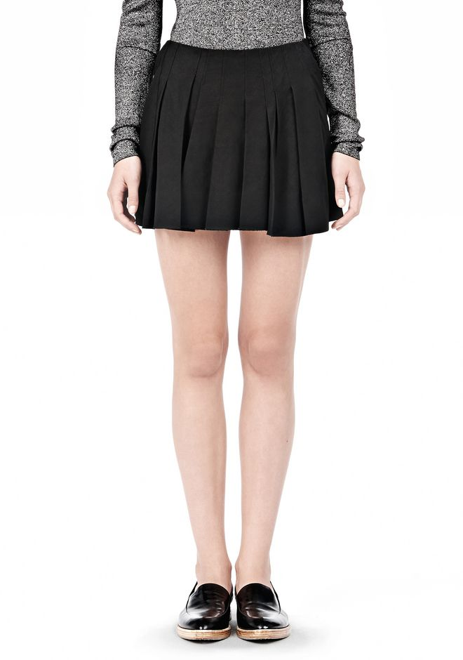 ALEXANDER WANG VACUUM PRESSED IRREGULAR SEAM MINI SKIRT SKIRT Adult 12_n_d