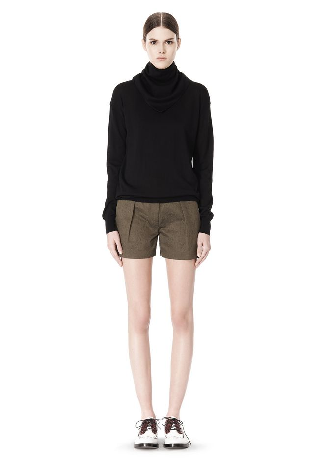 ALEXANDER WANG LOW WAISTED SINGLE PLEAT SHORT SHORTS Adult 12_n_f