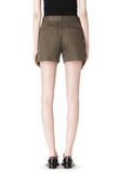 ALEXANDER WANG LOW WAISTED SINGLE PLEAT SHORT SHORTS Adult 8_n_a