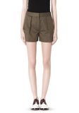 ALEXANDER WANG LOW WAISTED SINGLE PLEAT SHORT SHORTS Adult 8_n_d