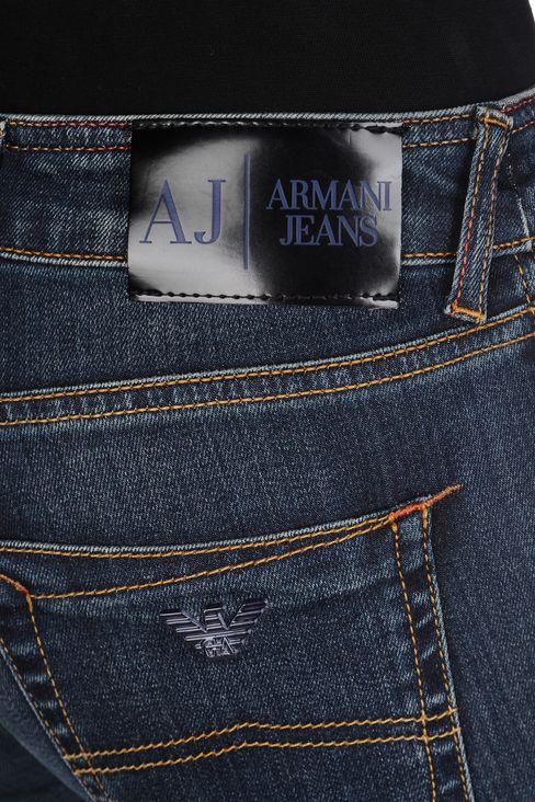 SUPER STRETCH VINTAGE MEDIUM DARK WASH JEANS: Jeans Women by Armani - 5