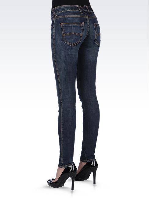 SUPER STRETCH VINTAGE MEDIUM DARK WASH JEANS: Jeans Women by Armani - 4