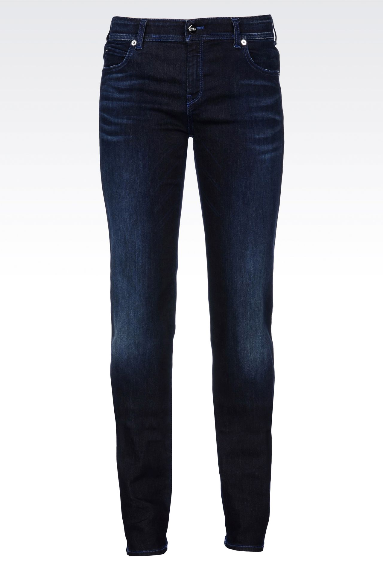 REGULAR FIT DARK WASH JEANS: Jeans Women by Armani - 0