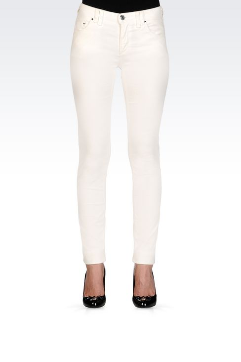 SKINNY JEANS IN SLUB VELVET: 5 pockets Women by Armani - 3