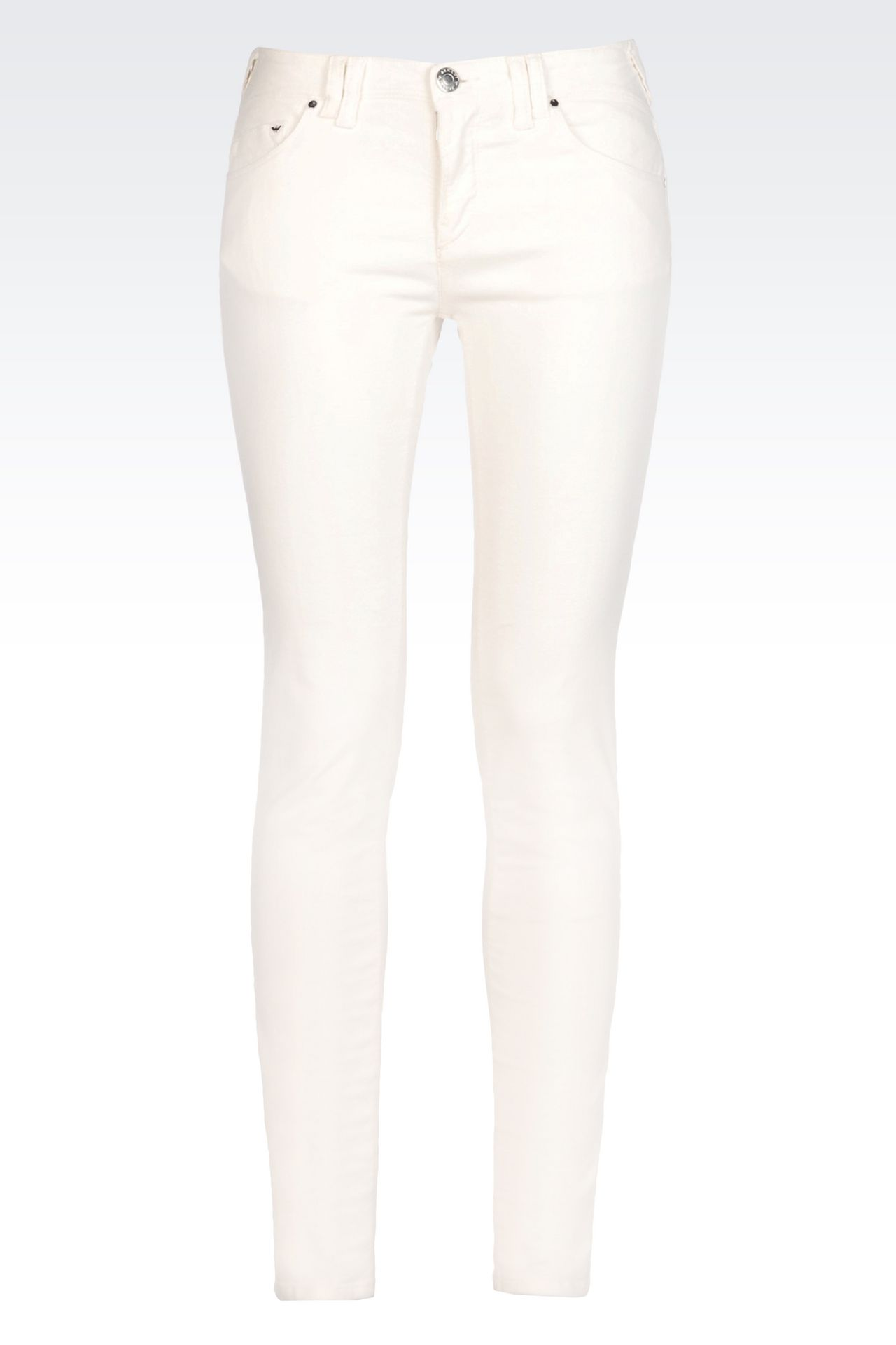 SKINNY JEANS IN SLUB VELVET: 5 pockets Women by Armani - 0