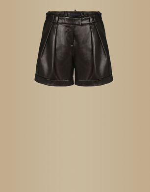 TRU TRUSSARDI - Leather trousers