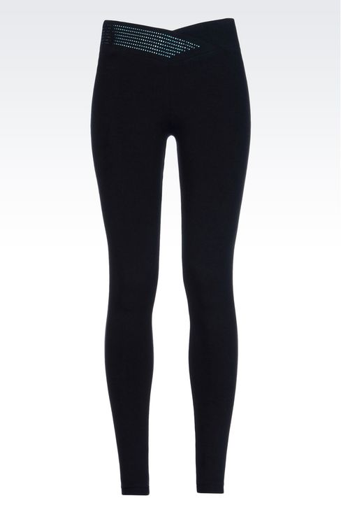 STRETCH JERSEY TROUSERS: Leggings Women by Armani - 1
