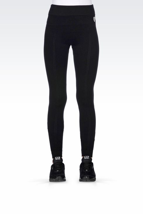 LONG LEGGINGS WITH LOGO: Leggings Women by Armani - 3