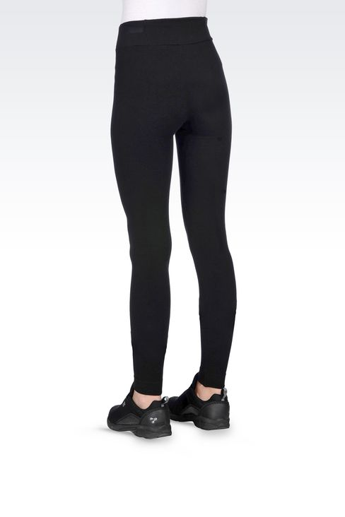 LONG LEGGINGS WITH LOGO: Leggings Women by Armani - 4
