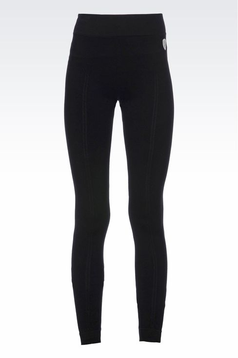 LONG LEGGINGS WITH LOGO: Leggings Women by Armani - 1