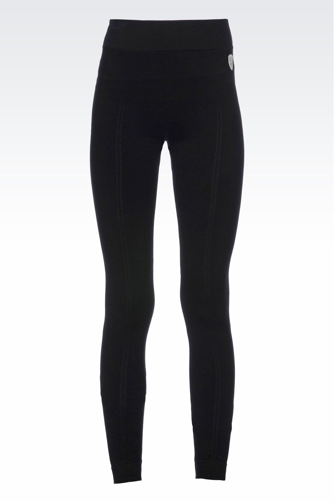 LONG LEGGINGS WITH LOGO: Leggings Women by Armani - 0