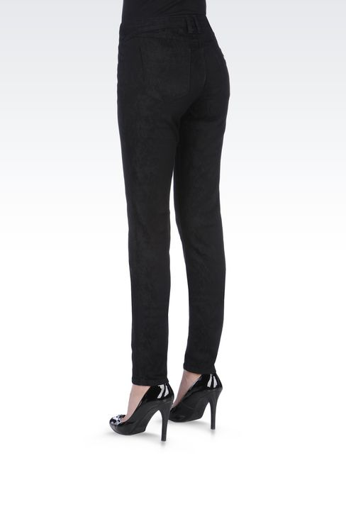 SKINNY JEANS IN CLEAN WASH JACQUARD DENIM: Jeans Women by Armani - 4