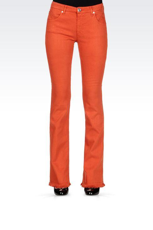 SLIM FIT FLARE VINTAGE LOOK JEANS: Jeans Women by Armani - 3