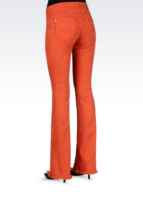 SLIM FIT FLARE VINTAGE LOOK JEANS: Jeans Women by Armani - 4