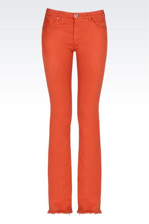 SLIM FIT FLARE VINTAGE LOOK JEANS: Jeans Women by Armani - 1