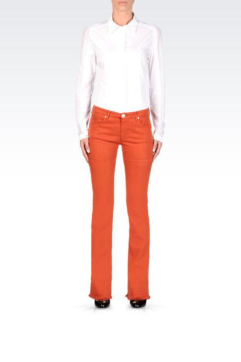 SLIM FIT FLARE VINTAGE LOOK JEANS: Jeans Women by Armani - 2
