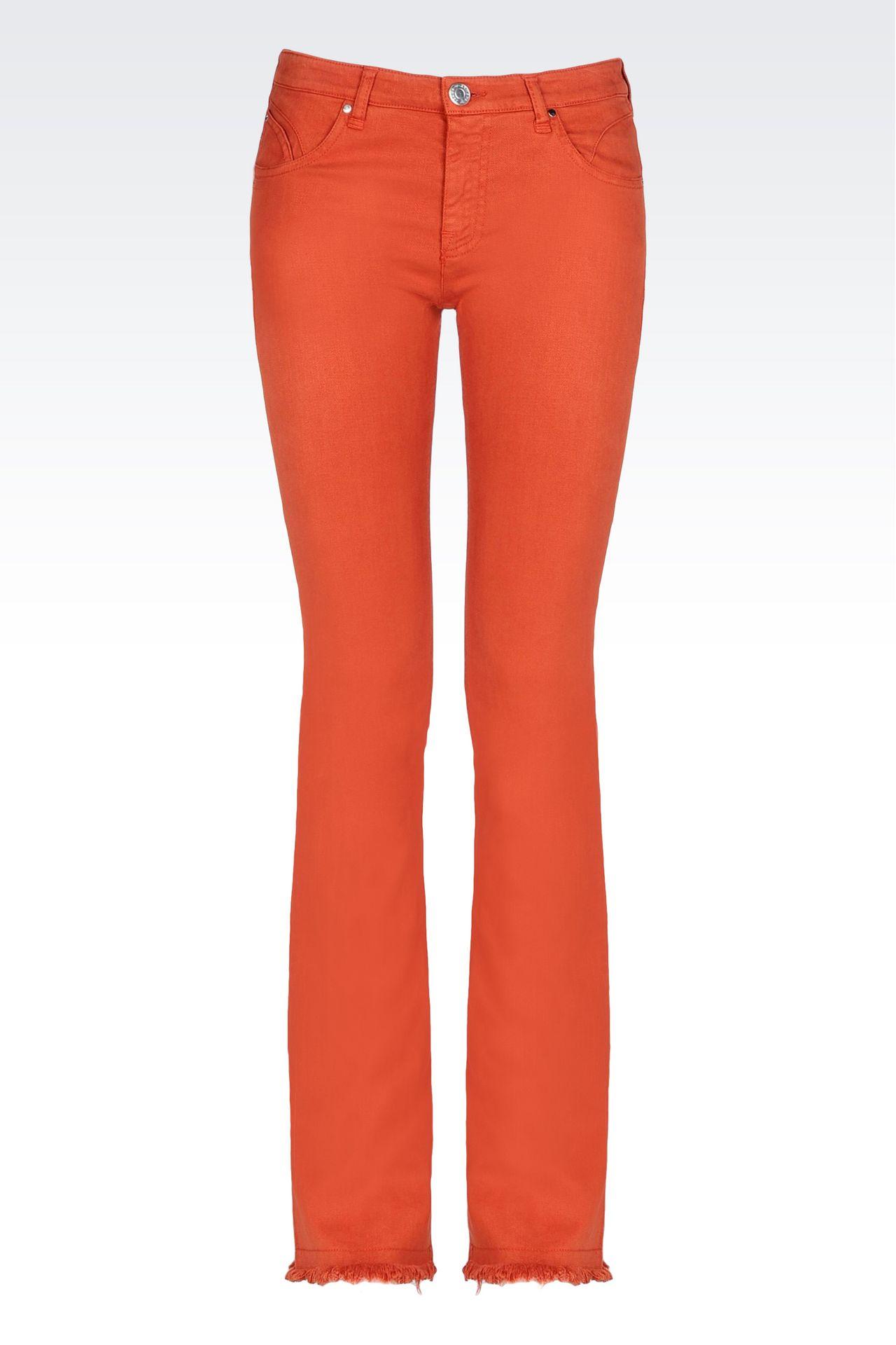 SLIM FIT FLARE VINTAGE LOOK JEANS: Jeans Women by Armani - 0