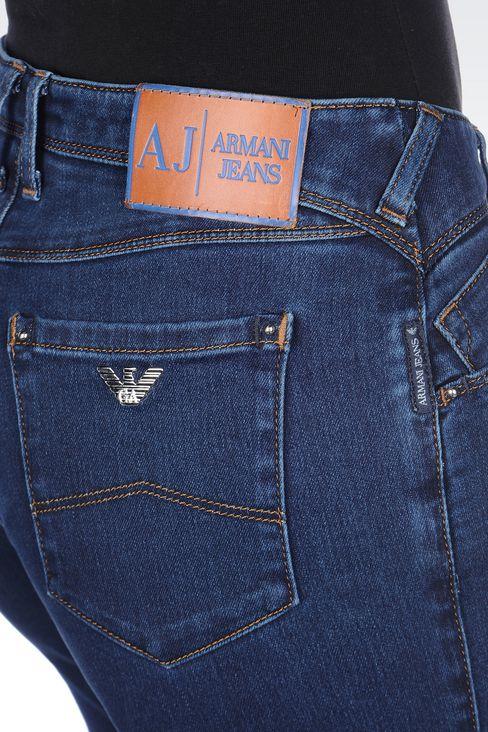 DARK WASH STRETCH LEGGINGS: Jeans Women by Armani - 5