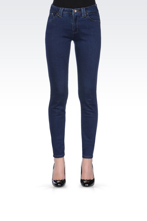 DARK WASH STRETCH LEGGINGS: Jeans Women by Armani - 3