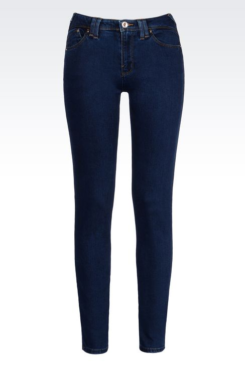 DARK WASH STRETCH LEGGINGS: Jeans Women by Armani - 1