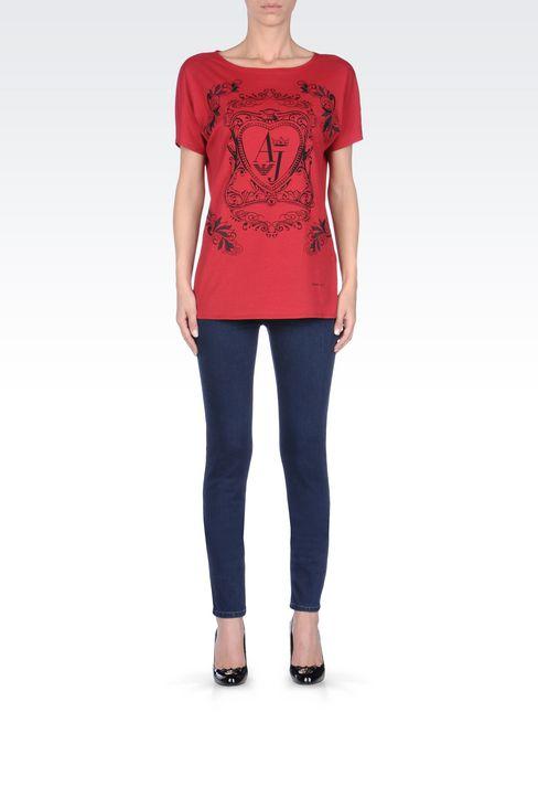 DARK WASH STRETCH LEGGINGS: Jeans Women by Armani - 2