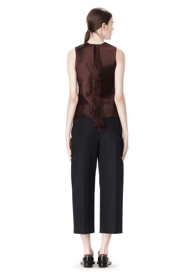 ALEXANDER WANG CROPPED PANT WITH DISTRESSED DETAIL PANTS Adult 12_n_r