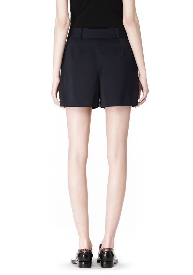 PLEATED FRONT SKORT WITH STUD DETAIL