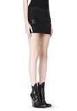 ALEXANDER WANG CROPPED SKIRT WITH DISTRESSED DETAIL SKIRT Adult 8_n_e